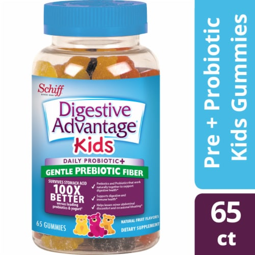 Digestive Advantage KIDS Prebiotic Fiber + Probiotic Digestive Health Gummies 65 Count Perspective: back