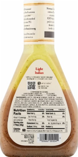 Newman's Own Lite Italian Dressing Perspective: back