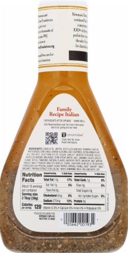 Newman's Own Family Recipe Italian Dressing Perspective: back