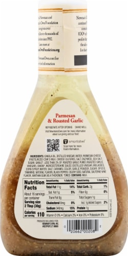 Newman's Own Parmesan & Roasted Garlic Dressing Perspective: back