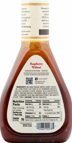 Newman's Own Raspberry Walnut Dressing Perspective: back