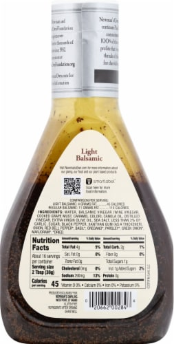 Newman's Own Lite Balsamic Dressing Perspective: back