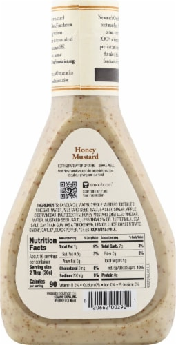 Newman's Own Honey Mustard Dressing Perspective: back