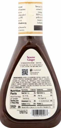 Newman's Own Sesame Ginger Dressing Perspective: back
