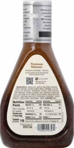 Newman's Own Parmesan Balsamic Dressing Perspective: back
