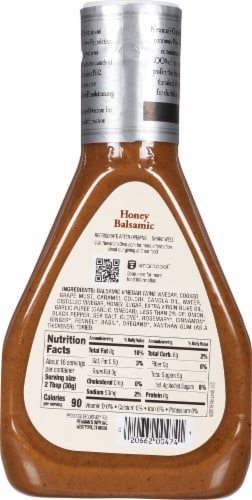 Newman's Own Honey Balsamic Dressing Perspective: back