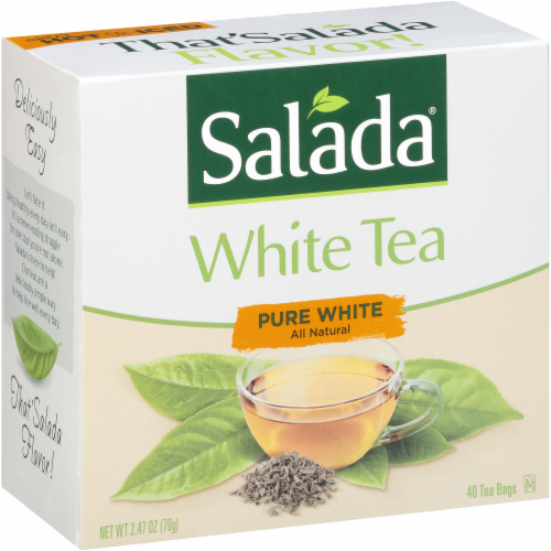 Salada All Natural Pure White Tea Bags Perspective: back