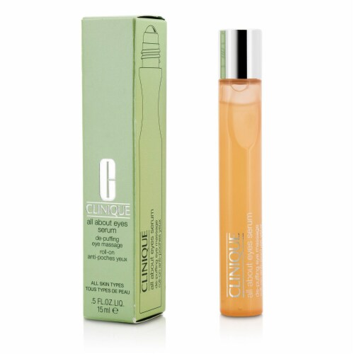 CLINIQUE/ALL ABOUT EYES SERUM DE-PUFFING EYE MASSAGE 0.5 OZ Perspective: back