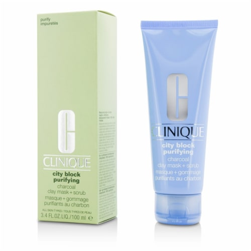 Clinique City Block Purifying Charcoal Clay Mask + Scrub 100ml/3.4oz Perspective: back