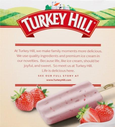 Turkey Hill Strawberry Fruit & Cream Bars Perspective: back