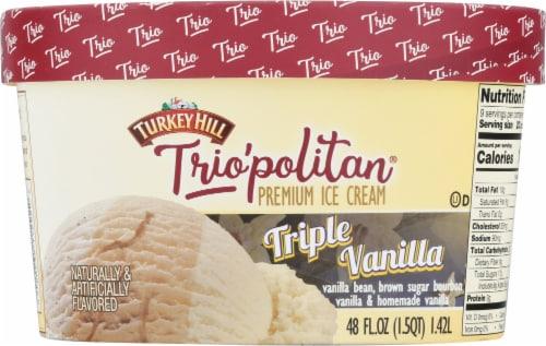 Turkey Hill® Trio'politan Triple Vanilla Ice Cream Perspective: back