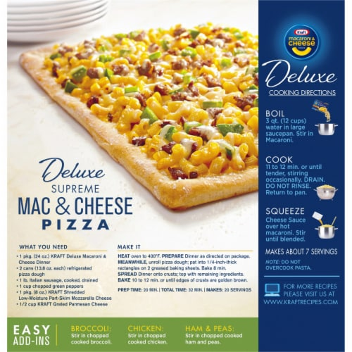 Kraft Deluxe Family Size Original Cheddar Macaroni & Cheese Perspective: back