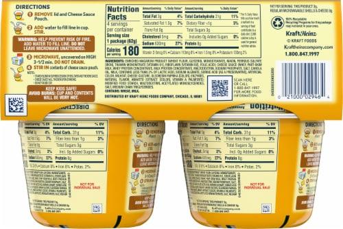 Velveeta Shells & Cheese Cups Perspective: back