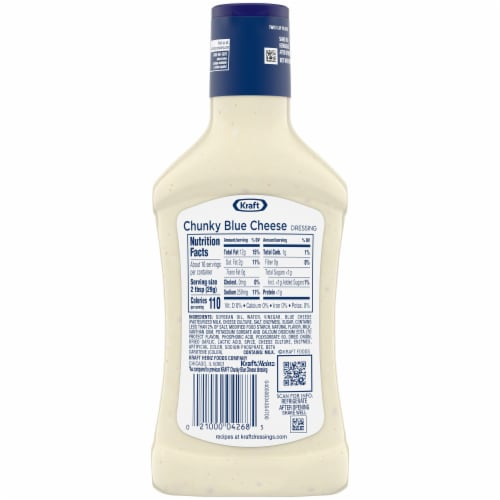 Kraft Chunky Blue Cheese Dressing Perspective: back