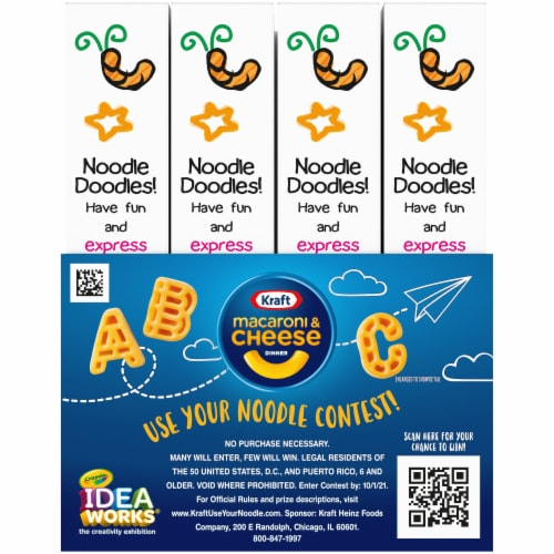 Kraft Crayola ABC Macaroni and Cheese Dinners Perspective: back