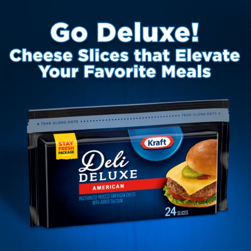 Kraft Deli Deluxe American Cheese Slices Perspective: back