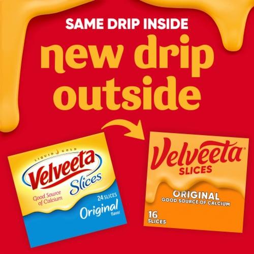 Velveeta Original Cheese Slices Perspective: back
