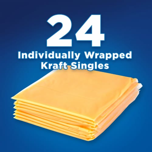 Kraft Singles American Cheese Slices Perspective: back