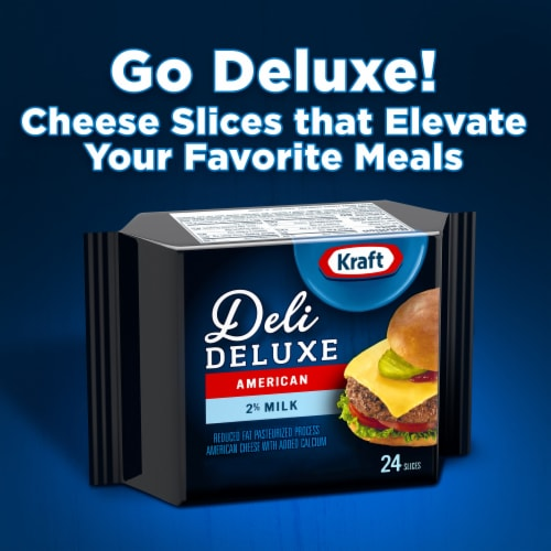Kraft Deli Deluxe 2% Milk American Cheese Slices Perspective: back