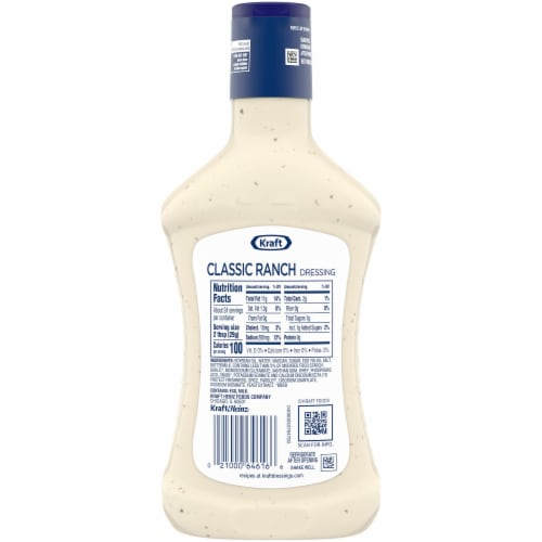 Kraft Classic Ranch Dressing Perspective: back