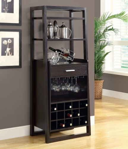 Cappuccino 60 H Ladder Style Bar Unit Perspective: back