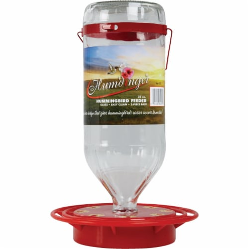 Turbine 32 oz Hummingbird Feeder Glass Perspective: back