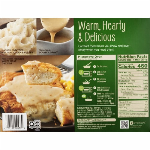 Marie Callender's Country Fried Chicken & Gravy Frozen Meal Perspective: back
