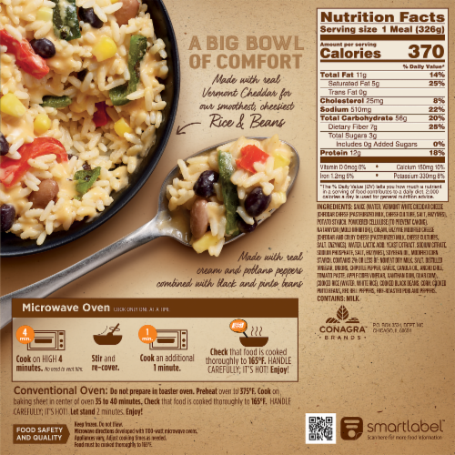 Marie Callender's Cheesy Chipotle Rice & Beans Bowl Frozen Meal Perspective: back
