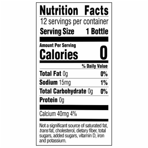 Topo Chico Carbonated Mineral Water Perspective: back