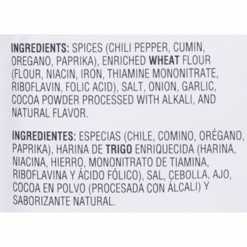Lawry's Chili Spices & Seasoning Mix Perspective: back