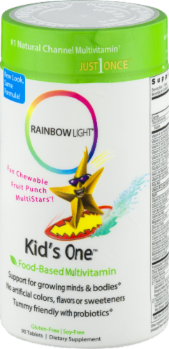 Rainbow Light Kids' One Multivitamin Gluten Free Tablets Perspective: back