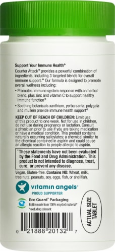 Rainbow Light Counter Attack Immune Support Health Herbal Supplement Tablets Perspective: back