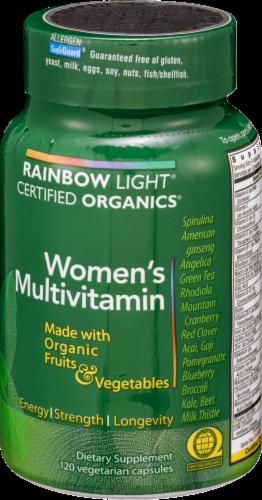 Rainbow Light Organic Women's Multivitamin Vegetarian Capsules Perspective: back