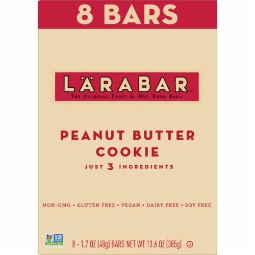 Larabar Peanut Butter Cookie Fruit & Nut Bars Perspective: back