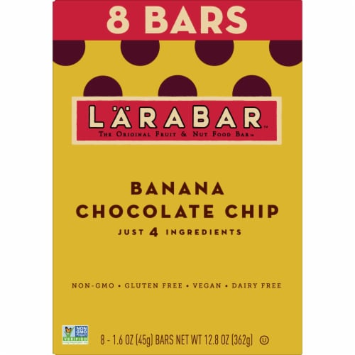 Larabar Banana Chocolate Chip Fruit & Nut Bars Perspective: back
