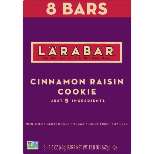 Larabar Cinnamon Raisin Cookie Fruit & Nut Food Bar Perspective: back