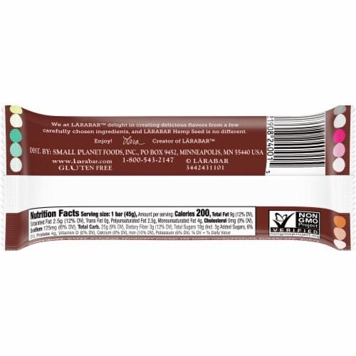 Larabar Hemp Seed Chocolate Sea Salt Brownie Fruit and Nut Bar Perspective: back