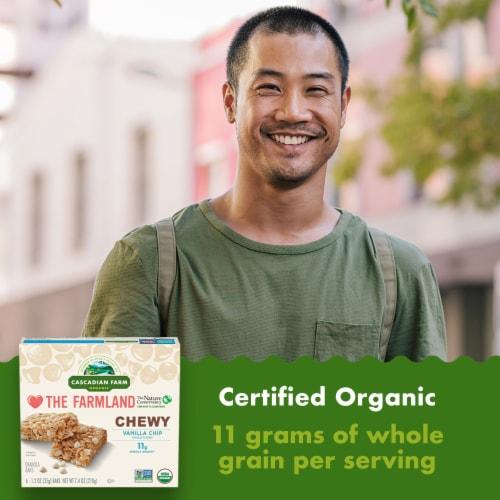 Cascadian Farm Organic Vanilla Chip Chewy Granola Bars Perspective: back