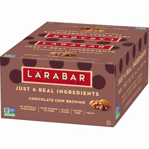 Larabar Chocolate Chip Brownie Fruit & Nut Bars Perspective: back