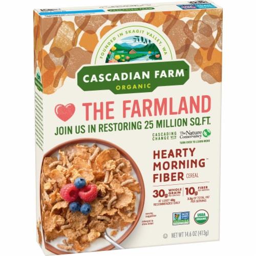 Cascadian Farm Organic Hearty Morning Fiber Cereal Perspective: back