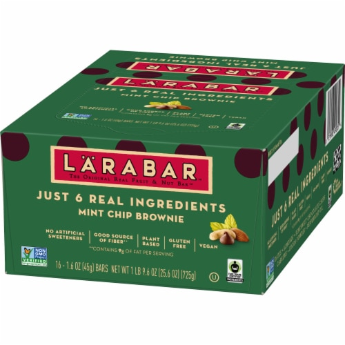Larabar Mint Chip Brownie Fruit & Nut Bars Perspective: back