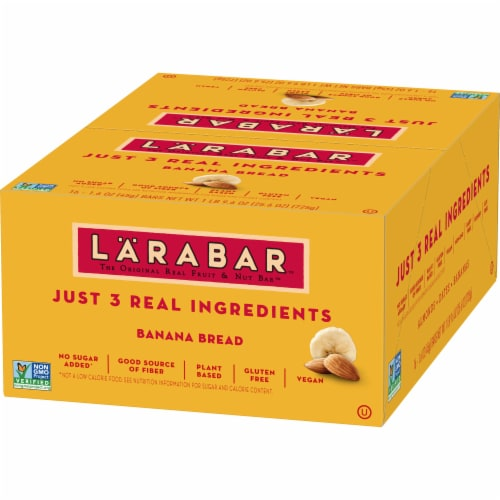 Larabar Banana Bread Fruit & Nut Bars Perspective: back