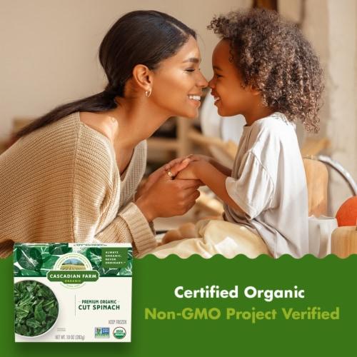 Cascadian Farm Premium Organic Cut Spinach Perspective: back