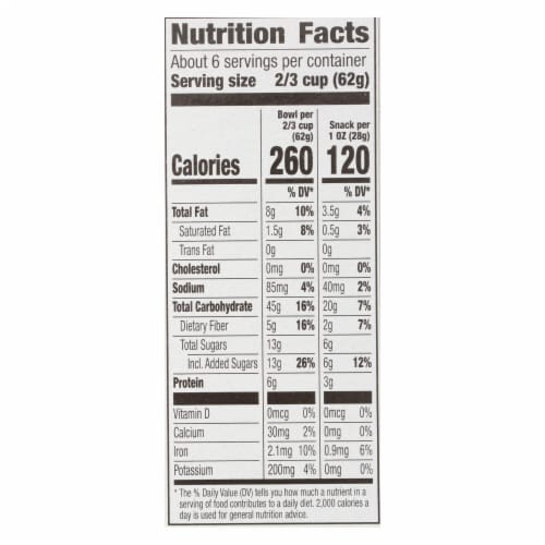 Cascadian Farm Granola - Organic - Dark Chocolate Almond - 13.25 oz - case of 6 Perspective: back