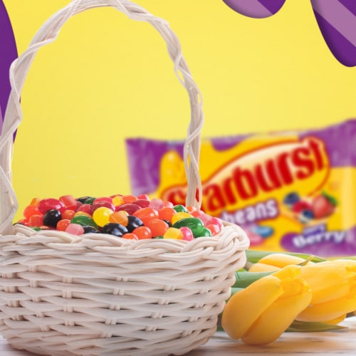 STARBURST Minis and Jelly Beans Chewy Easter Candy Mix Bag Perspective: back
