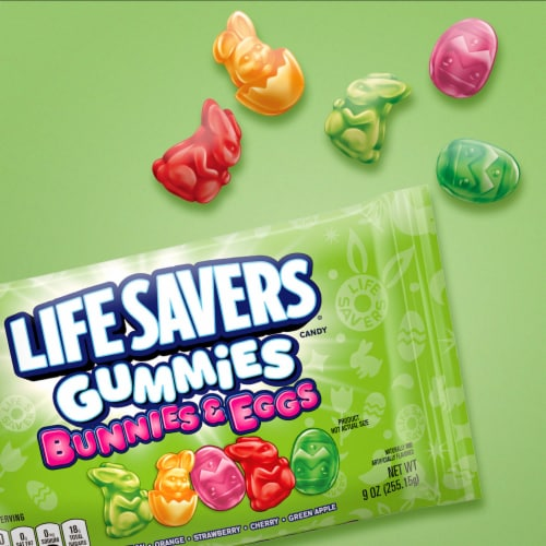 LIFE SAVERS Gummy Easter Candy Bunnies & Eggs Bag Perspective: back