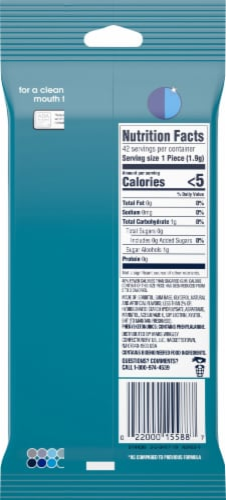 ORBIT® Wintermint Sugar Free Chewing Gum Perspective: back