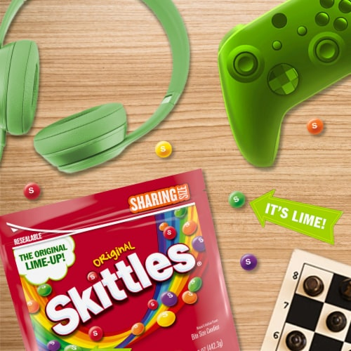Skittles Original Chewy Candy Sharing Size Perspective: back