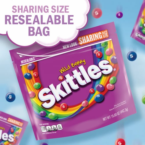 SKITTLES Wild Berry Chewy Candy Sharing Size Perspective: back
