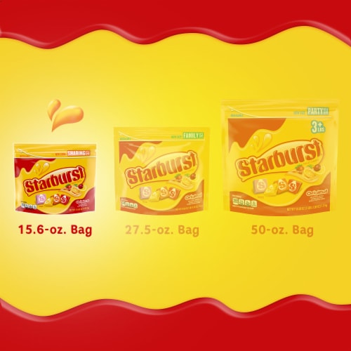 Starburst Original Chewy Candy Sharing Size Perspective: back